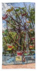 Beach Towel featuring the photograph Old Fashioned Ferris Wheel by The Art of Alice Terrill