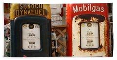 Old Fuel Pumps Beach Sheet