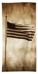 Beach Towel featuring the photograph Old Glory by Aaron Berg