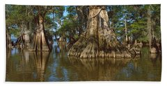 Old-growth Cypresses At Lake Fausse Beach Towel