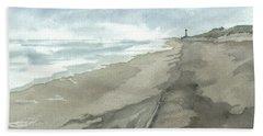 Old Hatteras Light Beach Towel