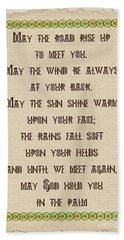 Old Irish Blessing Beach Towel