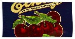 Cherries Antique Food Package Label Beach Sheet