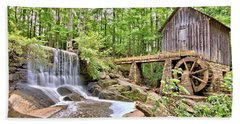 Old Lefler Grist Mill Beach Towel by Gordon Elwell