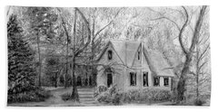 Old Library On Lake Afton - Winter Beach Towel