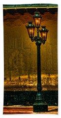 Old Lima Street Lamp Beach Sheet