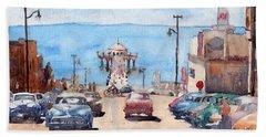 Old Manhattan Beach Beach Towel