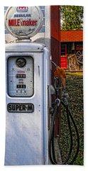 Old Marathon Gas Pump Beach Sheet