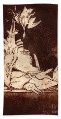 Old Masters Still Life - With Great Bittern Duck Rabbit - Nature Morte - Natura Morta - Still Life Beach Towel