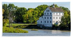 Old Mill On Grand River In Caledonia In Ontario Beach Sheet