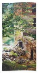 Old Mill Stream I Beach Sheet by Lori Brackett