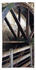 Beach Towel featuring the photograph Old Mill Water Wheel by Jeannie Rhode