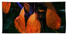 Old Orange Leaves Beach Towel