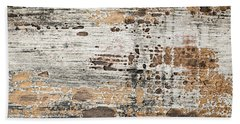 Old Painted Wood Abstract No.1 Beach Towel