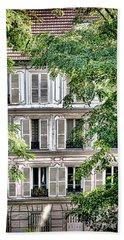 Old Parisian Building Beach Towel
