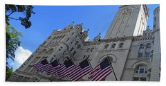 The Old Post Office Or Trump Tower Beach Towel by Cora Wandel