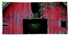 Beach Sheet featuring the photograph Old Red Barn IIi by Lanita Williams