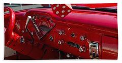 Beach Sheet featuring the photograph Old Red Chevy Dash by Tikvah's Hope