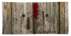 Old Ristra Door Beach Towel