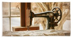 Old Sewing Machine Beach Towel