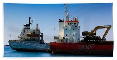 Beach Towel featuring the photograph Old Ships by Kevin Desrosiers