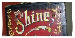 Old Shoe Shine Kit Beach Towel