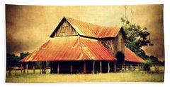 Old Texas Barn Beach Sheet