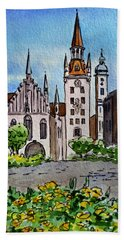 Old Town Hall Munich Germany Beach Sheet