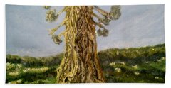 Old Tree In Spring Light Beach Towel