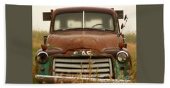 Old Truck Beach Sheet by Steven Reed