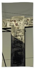 Old Vegas Sign On First Street, Fremont Beach Towel