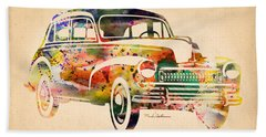 Old Volkswagen Beach Towel by Mark Ashkenazi