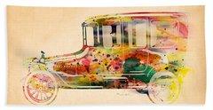 Old Volkswagen3 Beach Towel by Mark Ashkenazi