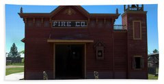 Old West Fire Station Beach Towel