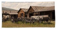 Old West Wyoming  Beach Towel