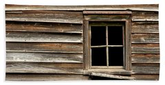 Old Window And Clapboard Beach Towel