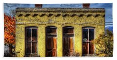 Old Yellow House In Buena Vista Beach Towel by Lanita Williams