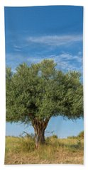 Olive Tree Painting Beach Towel