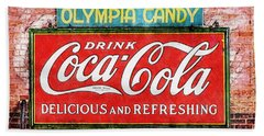 Beach Towel featuring the painting Olympia Candy by Sandy MacGowan