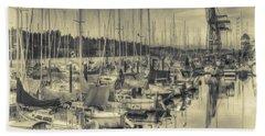 Beach Sheet featuring the photograph Olympia Marina 3 by Jean OKeeffe Macro Abundance Art