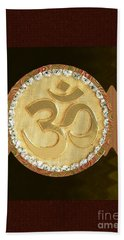 Om Mantra Ommantra Hinduism Symbol Sound Chant Religion Religious Genesis Temple Veda Gita Tantra Ya Beach Sheet
