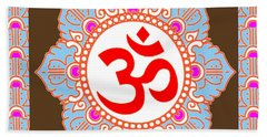 Beach Towel featuring the photograph Om Mantra Ommantra by Navin Joshi