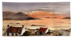 Omey Island Sunset Galway Beach Towel