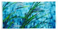 On A Blue Afternoon Beach Towel