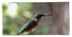 Hummingbird On A Mission Beach Towel by Belinda Lee