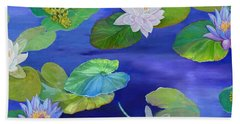On Big Fresh Pond Beach Towel by Kimberly McSparran