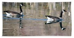 On Golden Pond Beach Towel by Mike Dawson