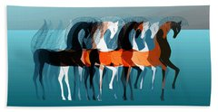On Parade Beach Towel by Stephanie Grant