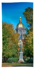 On The Campus Of The University Of Notre Dame Beach Towel by Mountain Dreams