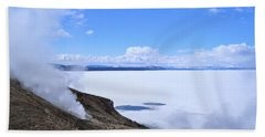 On The Edge Of Lake Yellowstone Beach Towel by Michele Myers